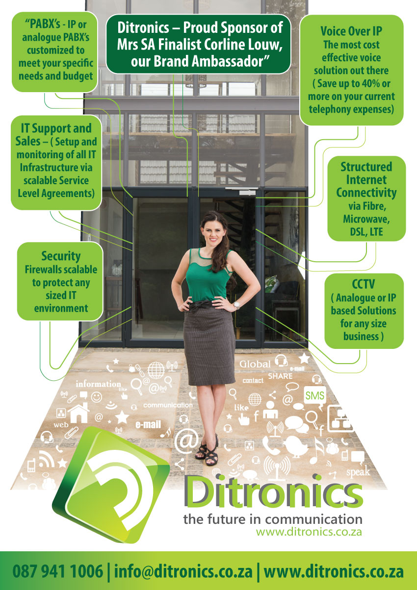 Corline Louw Mrs SA Finalist - Ditronics Brand ambassador